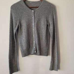 100% cashmere button up cardigan